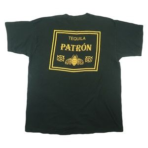 Other - Vintage 90s Patron Tequila Logo Gold T Shirt XL